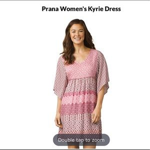 Prana Kyrie Relaxed Casual Fit Dress Pink Medium